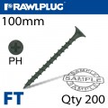 DRYWALL SCREW COARSE THREAD 4.8MMX100MM X200-BOX